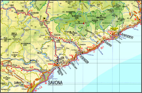 Cartina Turistica Liguria.Cinque Terre Golfo Dei Poeti